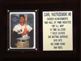 "MLB 6""X8"" Carl Yastrzernski Boston Red Sox Career Stat Plaque"