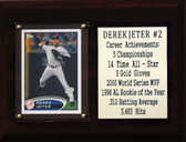 "MLB 6""X8"" Derek Jeter New York Yankees Career Stat Plaque"