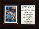 "MLB 6""X8"" George Brett Kansas City Royals Career Stat Plaque"