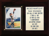 "MLB 6""X8"" Mickey Mantle New York Yankees Career Stat Plaque"