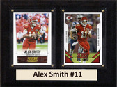 "NFL 6""X8"" Alex Smith Kansas City Chiefs Two Card Plaque"