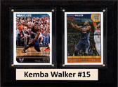 "NBA 6""X8"" Kemba Walker Charlotte Hornets Two Card Plaque"