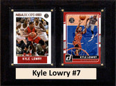 "NBA 6""X8"" Kyle Lowry Toronto Raptors Two Card Plaque"