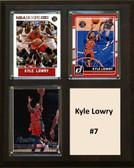 "NBA 8""x10"" Kyle Lowry Toronto Raptors Three Card Plaque"