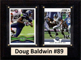 "NFL 6""X8"" Doug Baldwin Seattle Seahawks Two Card Plaque"