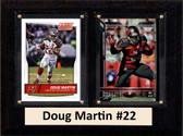 "NFL 6""X8"" Doug Martin Tampa Bay Buccaneers Two Card Plaque"