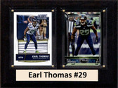"NFL 6""X8"" Earl Thomas Seattle Seahawks Two Card Plaque"