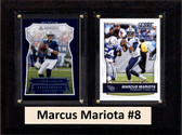 "NFL 6""X8"" Marcus Mariota Tennessee Titans Two Card Plaque"