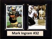 "NFL 6""X8"" Mark Ingram New Orleans Saints Two Card Plaque"