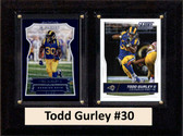 "NFL 6""X8"" Todd Gurley Los Angeles Rams Two Card Plaque"