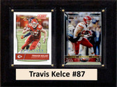 "NFL 6""X8"" Travis Kelce Kansas City Chiefs Two Card Plaque"