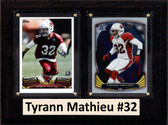 "NFL 6""X8"" Tyrann Mathieu Arizona Cardinals Two Card Plaque"