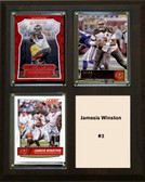 "NFL 8""x10"" Jameis Winston Tampa Bay Buccaneers Three Card Plaque"