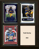 "NFL 8""x10"" Todd Gurley Los Angeles Rams Three Card Plaque"