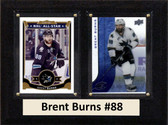 "NHL 6""X8"" Brent Burns San Jose Sharks Two Card Plaque"