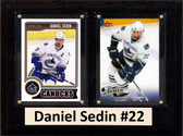 "NHL 6""X8"" Daniel Sedin Vancouver Canucks Two Card Plaque"