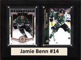 "NHL 6""X8"" Jamie Benn Dallas Stars Two Card Plaque"