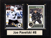 "NHL 6""X8"" Joe Pavelski San Jose Sharks Two Card Plaque"