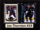 "NHL 6""X8"" Joe Thornton San Jose Sharks Two Card Plaque"