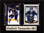 "NHL 6""X8"" Vladimir Tarasenko St.Louis Blues Two Card Plaque"