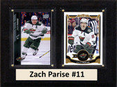 "NHL 6""X8"" Zach Parise Minnesota Wild Two Card Plaque"