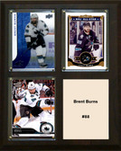 "NHL 8""x10"" Brent Burns San Jose Sharks Three Card Plaque"