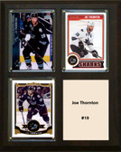 "NHL 8""x10"" Joe Thornton San Jose Sharks Three Card Plaque"