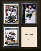 "NHL 8""x10"" Zach Parise Minnesota Wild Three Card Plaque"