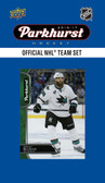 NHL San Jose Sharks 2016 Parkhurst Team Set