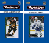 NHL Vancouver Canucks 2016 Parkhurst Team Set and All-Star Set