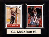 "NBA 6""X8"" C.J. McCollum Portland Trail Blazers Two Card Plaque"