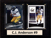 "NCAA 6""X8"" C.J. Anderson California Golden Bears Two Card Plaque"