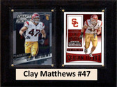"NCAA 6""X8"" Clay Matthews USC Trojans Two Card Plaque"