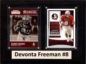"NCAA 6""X8"" Devonta Freeman Florida State Seminoles Two Card Plaque"