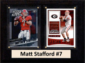 "NCAA 6""X8"" Matt Stafford Georgia Bulldogs Two Card Plaque"