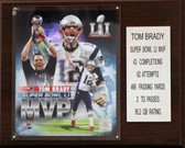 "NFL 12""x15"" Tom Brady New England Patriots Super Bowl LI MVP Plaque"