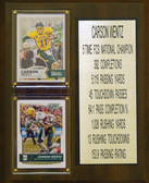 "NCAA 8""X10"" Carson Wentz Norh Dakota State Bison Two Card Stat Plaque"