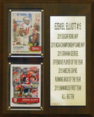 "NCAA 8""X10"" Ezekiel Elliott Ohio State Buckeyes Two Card Stat Plaque"