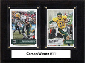"NCAA 6""X8"" Carson Wentz Norh Dakota State Bison Two Card Plaque"