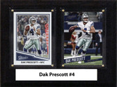 "NFL 6""X8"" Dak Prescott Dallas Cowboys Two Card Plaque"