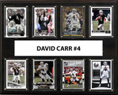 "NFL 12""x15"" Derek Carr Oakland Raiders 8-Card Plaque"