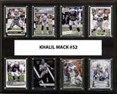 "NFL 12""x15"" Khalil Mack Oakland Raiders 8-Card Plaque"