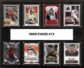 "NFL 12""x15"" Mike Evans Tampa Bay Buccaneers 8-Card Plaque"
