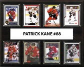 "NHL 12""x15"" Patrick Kane Chicago Blackhawks 8-Card Plaque"