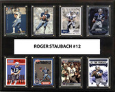 "NFL 12""x15"" Roger Staubach Dallas Cowboys 8-Card Plaque"