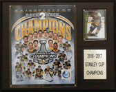 "NHL 12""x15"" Pittsburgh Penguins 2016-2017 Stanley Cup Champions 8-Card Plaque"