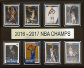"NBA 12""x15"" Golden State Warriors 2016-2017 NBA Champions 8 Card Plaque"