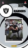 NFL Oakland Raiders Licensed 2017 Donruss Team Set.
