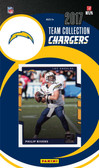 NFL Los Angeles Chargers Licensed 2017 Donruss Team Set.