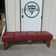 Gonstead  Bench with Face Slot Pelvic & Chest Drop - Burgundy UPHOLSTERY